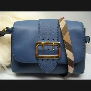 Auth BURBERRY Small Medley Leather Crossbody Bag